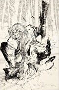 Original Comic Art:Covers, Bill Sienkiewicz Wolverine #10 Cover Original Art (Marvel,1989)....