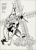 "Original Comic Art:Splash Pages, Frank Miller and Klaus Janson Daredevil #181 ""Last Hand""Splash Page 1 Original Art (Marvel, 1982)...."