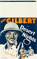 "Movie Posters:Drama, Desert Nights (MGM, 1929). Window Card (14"" X 22"").. ..."