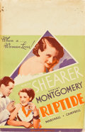 "Movie Posters:Drama, Riptide (MGM, 1934). Window Card (14"" X 22"").. ..."