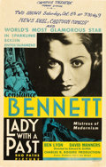 "Movie Posters:Comedy, Lady with a Past (RKO, 1932). Window Card (14"" X 22"").. ..."