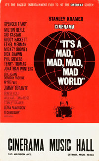 "It's a Mad, Mad, Mad, Mad World (United Artists, 1963). Window Card (13.5"" X 22"")"