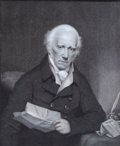 Prints, THE RIGHT HONORABLE WARREN HASTINGS, LATE GOVENOR GENERAL OFBENGAL . 19th century. 11 x 8-1/2 inches (27.9 x 21...