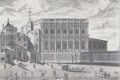 Prints, HIS MAJESTY'S ROYAL BANQUETING HOUSE OF WHITEHALL, LONDON.1713. Engraving. 16-1/2 x 22-1/2 inches (41.9 x 57.2 cm). E...