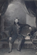 Prints, KING GEORGE THE FOURTH. 19th century. 25-3/4 x 16-1/2 inches(65.4 x 41.9 cm). Painted by Sir Thomas Lawrenc...