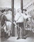 Prints, LOUIS THE XVI, KING OF FRANCE, ATTEMPTING TO ADDRESS THEPOPULACE. 1793. Engraving. 14 x 10 inches (35.6 x 25.4 cm).E...