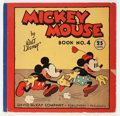 Platinum Age (1897-1937):Miscellaneous, Mickey Mouse Book #4 (David McKay Publications, 1934) Condition:VG....