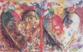 Fine Art - Work on Paper:Print, JIM DINE (American, b. 1935). Walker Art Center: Two Hearts for Pathways, 1989. Color poster. 13-1/2 x 21-1/2 inches (34...