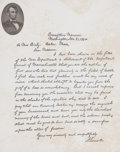 Other, FACSIMILE OF ABRAHAM LINCOLN'S MRS. BIXBY LETTER WITH LINCOLN PORTRAIT. 19th century. 10-1/2 x 10 inches (26.7 x 25.4 cm...