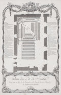 Prints, PLAN DU LIT DE JUSTICE. Etching. 23-1/2 x 15 inches (59.7 x38.1 cm). Elton Hyder III Collection Formerly ...