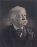Prints, PORTRAIT OF MELVILLE W. FULLER. 19th century. Engraving.15-1/2 x 12 inches (39.4 x 30.5 cm). Elton Hyder III Collecti...