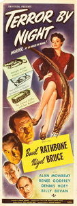"Movie Posters:Mystery, Terror by Night (Universal, 1946). Insert (14"" X 36"").. ..."