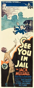 """Movie Posters:Comedy, See You in Jail (First National, 1927). Insert (14"""" X 36"""").. ..."""