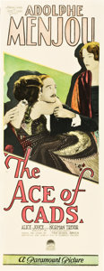 "Movie Posters:Drama, The Ace of Cads (Paramount, 1926). Insert (14"" X 36"").. ..."