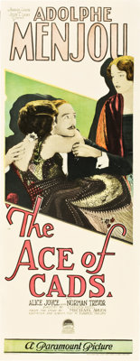 """The Ace of Cads (Paramount, 1926). Insert (14"""" X 36"""")"""