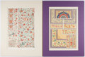 Books:Prints & Leaves, Owen Jones. Two Color Prints from The Grammar of Ornament.1910. Approx. 16.5 x 12.25 inches to matted edge. Nea... (Total: 2Items)