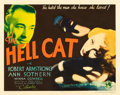 """Movie Posters:Drama, The Hell Cat (Columbia, 1934). Half Sheet (22"""" X 28"""").. ..."""