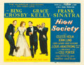 """Movie Posters:Musical, High Society (MGM, 1956). Half Sheet (22"""" X 28"""") Style B.. ..."""