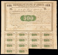 Confederate Notes:Group Lots, Ball 6 Cr. 7 $500 1861 Bond Very Fine.. ...