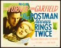 "Movie Posters:Film Noir, The Postman Always Rings Twice (MGM, 1946). Title Lobby Card (11"" X14"").. ..."