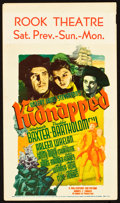 "Movie Posters:Adventure, Kidnapped (20th Century Fox, 1938). Midget Window Card (8"" X 14"")....."