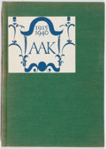 Books:Books about Books, Alfred A. Knopf: Quarter Century. Knopf, 1940. First edition, first printing. Glassine tattered. Sunned. Slipcase. Very good....
