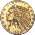 Proof Indian Half Eagles, 1909 $5 PR66+ PCGS. CAC....