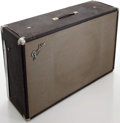 Musical Instruments:Amplifiers, PA, & Effects, 1970 's Fender Bassman Silverface Guitar Speaker Cabinet, #L08258....