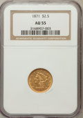 Liberty Quarter Eagles: , 1871 $2 1/2 AU55 NGC. NGC Census: (21/58). PCGS Population (12/38).Mintage: 5,350. Numismedia Wsl. Price for problem free ...