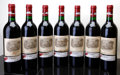Red Bordeaux, Chateau Lafite Rothschild 1988 . Pauillac. 1bn, 4lwisl.Bottle (7). ... (Total: 7 Btls. )