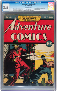 Adventure Comics #40 (DC, 1939) CGC VG- 3.5 Off-white pages