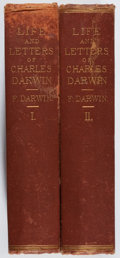 Books:Biography & Memoir, Francis Darwin [editor]. The Life and Letters of Charles Darwin. Vol. I & II. Appleton, 1888. Later edition. Sta... (Total: 2 Items)
