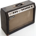 Musical Instruments:Amplifiers, PA, & Effects, 1965 Gibson GA-45RVT Black Guitar Amplifier, #A041819....