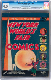 New York World's Fair Comics 1939 (DC, 1939) CGC VG+ 4.5 Cream to off-white pages