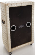 Musical Instruments:Amplifiers, PA, & Effects, 1970 'S Kustom K-200 Silver Sparkle Guitar Speaker Cabinet, #22519....