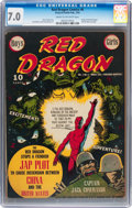 Golden Age (1938-1955):War, Red Dragon Comics #6 (Street & Smith, 1943) CGC FN/VF 7.0 Cream to off-white pages....