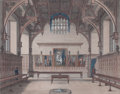 Prints, MIDDLE TEMPLE HALL. 1800. Color tinted engraving. 65-5/8 x75-3/4 inches (166.6 x 192.3 cm). Engraved by James Peller Ma...