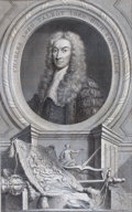 Prints, CHARLES LORD TALBOT, LORD HIGH CHANCELLOR. JacobusHoubraken, 1739. 5-3/4 x 3-5/8 inches (14.5 x 9.3 cm)...