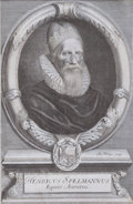 Prints, SIR HENRY SPELMAN. 18th century. 15-3/8 x 11-3/8 inches (39x 28.8 cm). Engraving by Robert White (British, ...