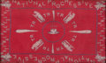 American, NATIONAL PROGRESSIVE PARTY BANDANA. 1912. 50-1/8 x 77 inches (127.3x 195.6 cm). Cloth campaign bandana for Theodore Rooseve...