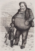 Prints, CAN THE LAW REACH HIM?--THE DWARF AND THE GIANT THIEF.Thomas Nast, 19th century. 14-1/2 x 9-1/2 inches (36.8 x ...