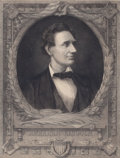 """Prints, MAX ROSENTHAL (1833-1918). """"With Malice Toward None, WithCharity for All"""", President Abraham Lincoln, 1908. Etching.10..."""