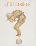 Prints, THE ETERNAL QUESTION. 20th century. 63-1/4 x 51-3/4 inches(160.5 x 131.3 cm). The cover of Judge magazine f...