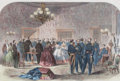 Prints, GRAND RECEPTION AT THE WHITE HOUSE. January 1862. 15 x 21 inches (38.1 x 53.3 cm). Harper's Weekly Newspaper...