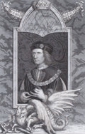 Prints, GEORGE VERTUE (British, 1684-1756). Richard the III, King ofEngland, circa 18th century. Engraving. 13 x 9 inches (33.0...
