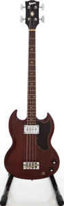 Musical Instruments:Bass Guitars, 1969 Gibson EB-0 Cherry Electric Bass Guitar, #800651....