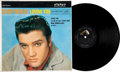Music Memorabilia:Autographs and Signed Items, Elvis Presley Signed Loving You Stereo LP (RCA 1515e, 1962)....