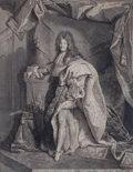 Prints, HYACINTHE RIGAUD (French, 1659-1743). Louis Le Grand, XIV,19th century. Engraving. 27 x 20 inches (68.6 x 50.8 cm). Eng...