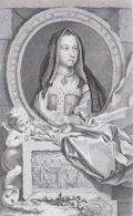 Prints, ELIZABETH QUEEN OF KING HENRY VII . 18th century. 14-3/4 x9-1/2 inches (37.5 x 24.1 cm). Etching. Elton Hyder III Col...