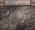 Prints, ENGLISH ARTIST (19th century). British Historical Military andNaval Scene. Engraving. 27-1/2 x 32-1/2 inches (69.9 x 82...